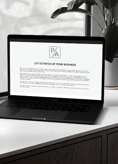 patch agency website on a Mac laptop