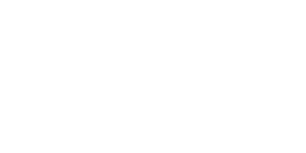 Patch Agency logo white