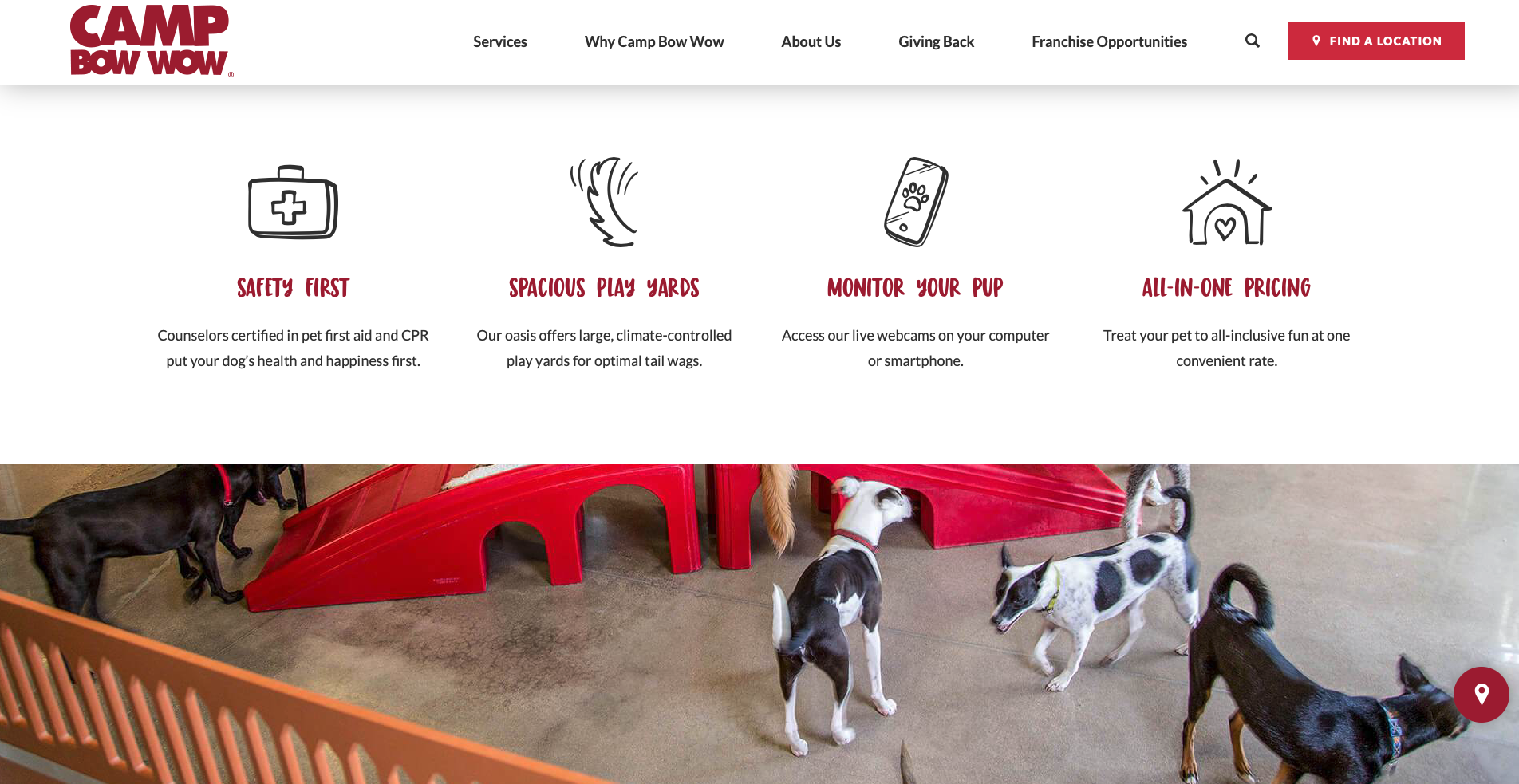 Camp Bow Wow home page