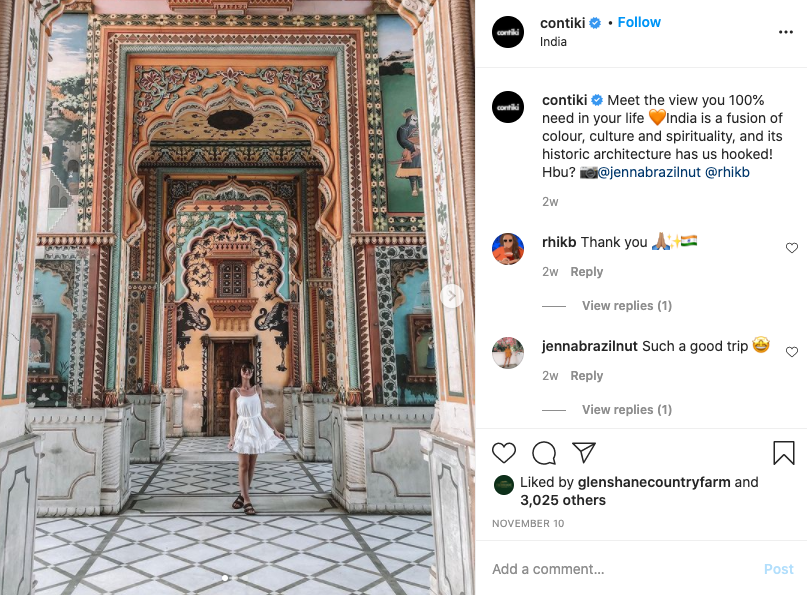 contiki instagram page