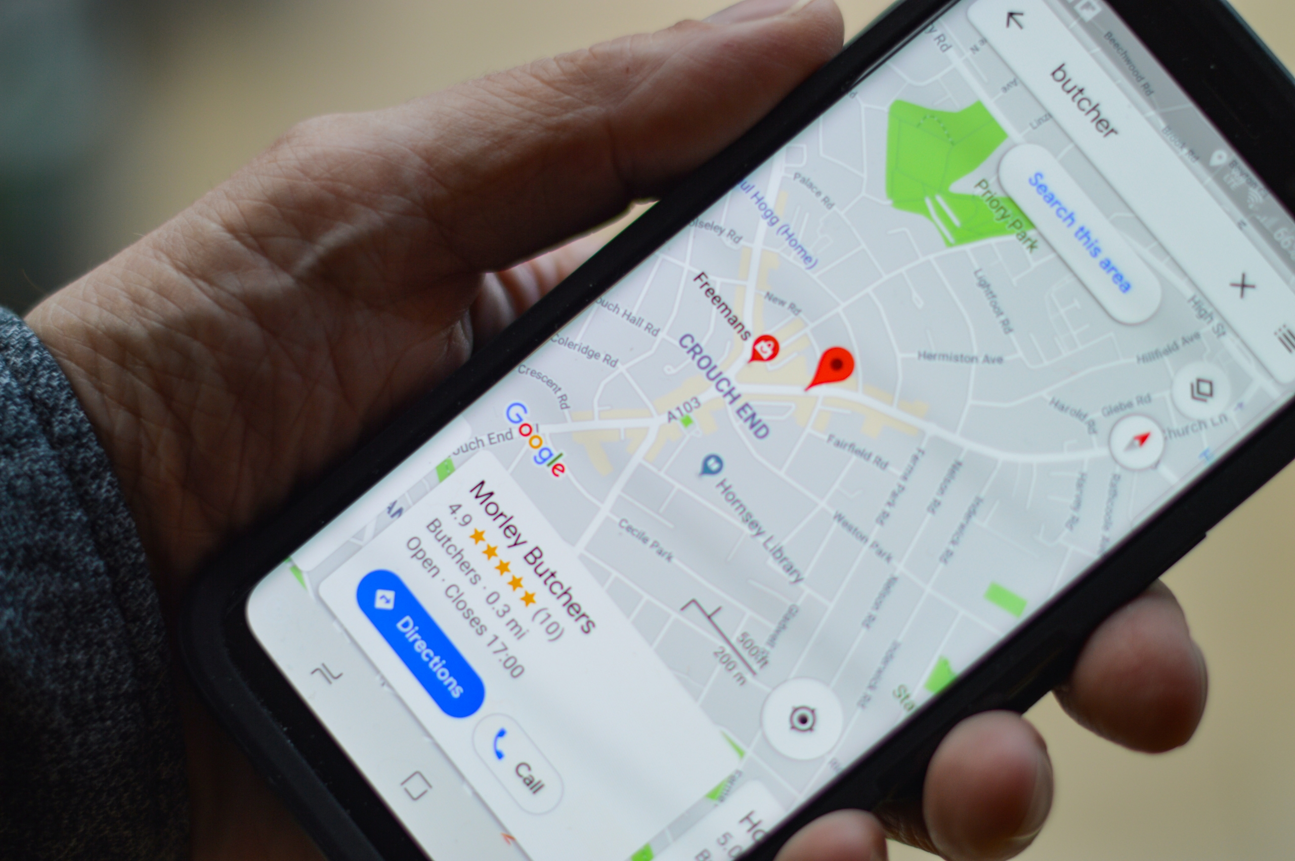 google maps and review of Morley butchers
