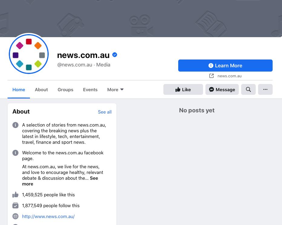 news.com.au Facebook page