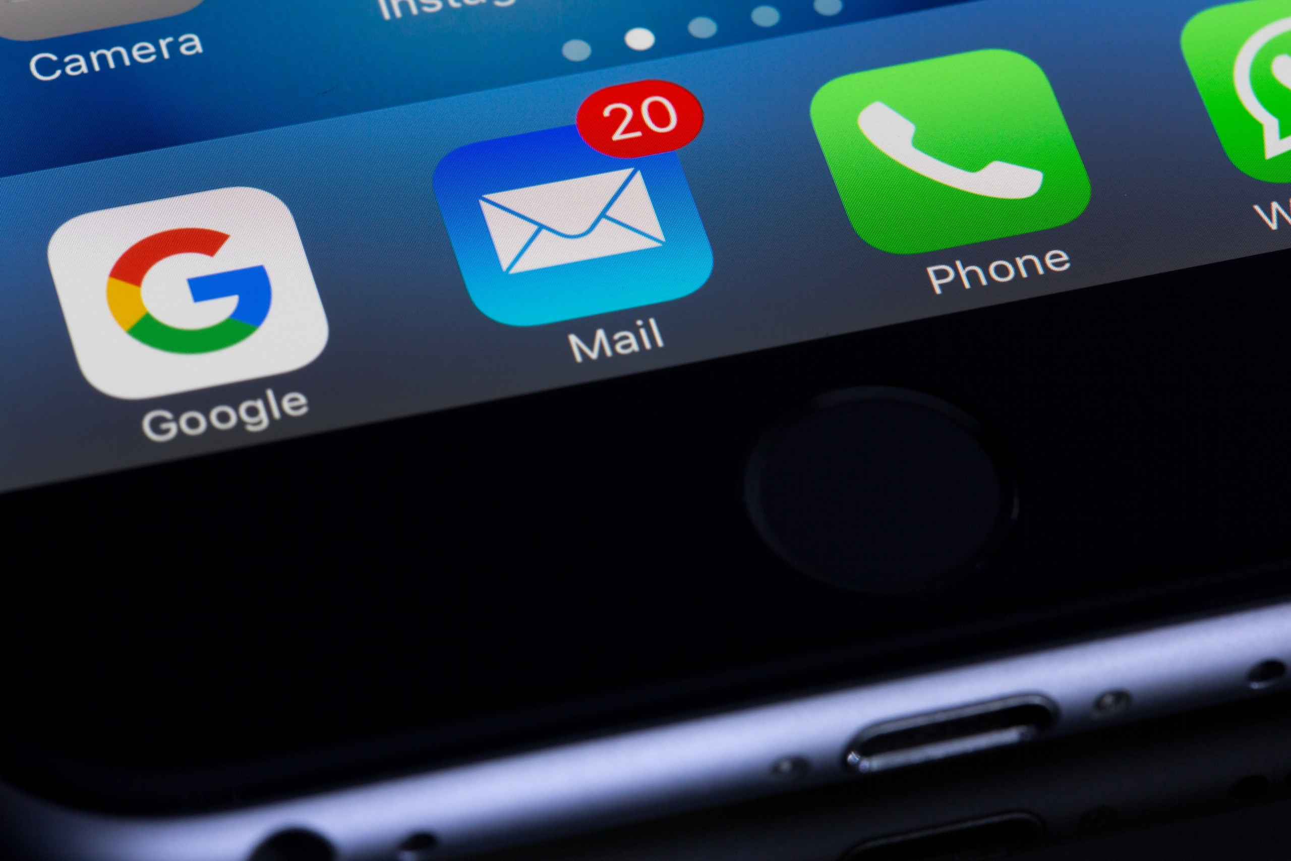 mail image on phone